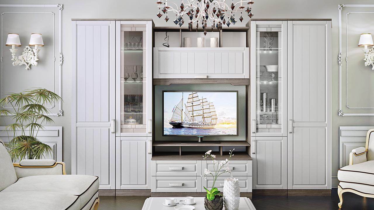 купить мебель для гостиной недорого классика Desing Wood